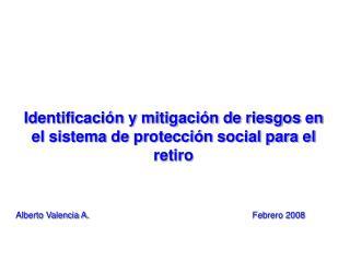 Identificaci n y mitigaci n de riesgos en el sistema de protecci n social para el retiro