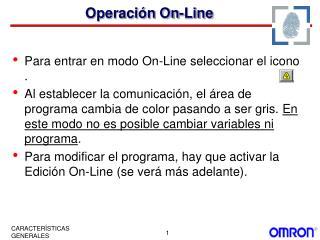 Operaci n On-Line