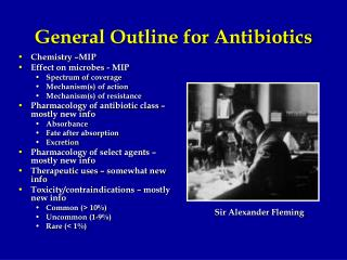 General Outline for Antibiotics
