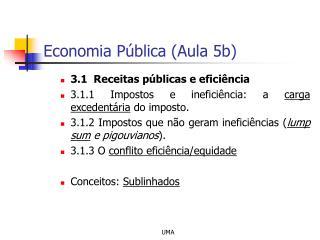 Economia P blica Aula 5b