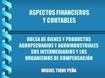 ASPECTOS FINANCIEROS  Y CONTABLES