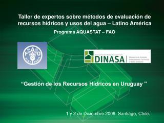 Gesti n de los Recursos H dricos en Uruguay