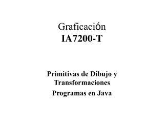 Primitivas de Dibujo y Transformaciones Programas en Java