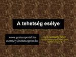 Prof. Csermely P ter a Nemzeti Tehets gseg to Tan cs eln ke  Semmelweis Egyetem