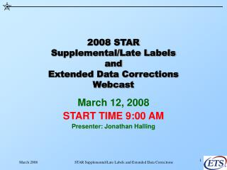 2008 STAR Supplemental