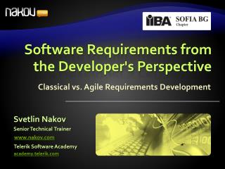 Software Requirements from the Developers Perspective