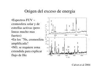 Origen del exceso de energia