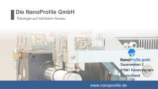 Die NanoProfile GmbH