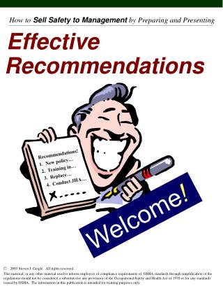 Effective  Recommendations