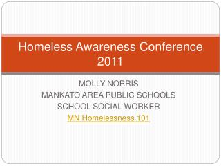 Homeless Awareness Conference 2011