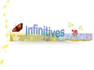 Infinitives