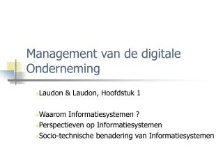 Management van de digitale Onderneming