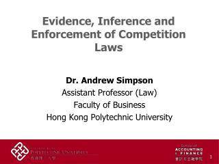 Evidence, Inference and Enforcement of Competition Laws