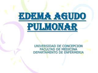 UNIVERSIDAD DE CONCEPCION  FACULTAD DE MEDICINA DEPARTAMENTO DE ENFERMERIA