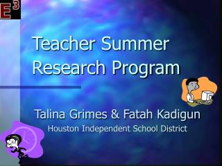 Teacher Summer Research Program