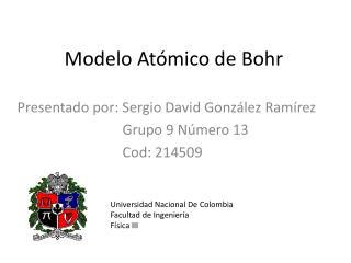 Modelo At mico de Bohr