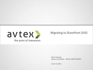 Migrating to SharePoint 2010