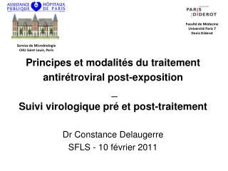 Principes et modalit s du traitement antir troviral post-exposition  _  Suivi virologique pr  et post-traitement  Dr Con