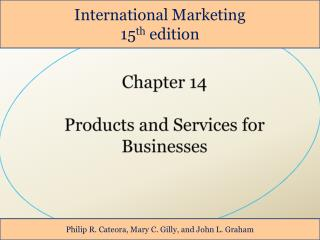 Chapter 14  Products and Services for Businesses