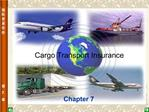 Cargo Transport Insurance