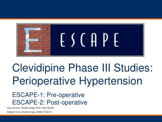 Clevidipine Phase III Studies:  Perioperative Hypertension