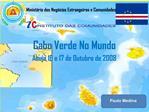 Cabo Verde No Mundo Abuja 16 e 17 de Outubro de 2008