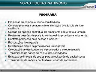 NOVAS FIGURAS PATRIM NIO