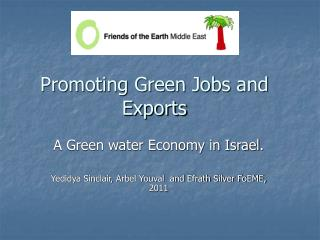 Promoting Green Jobs and Exports