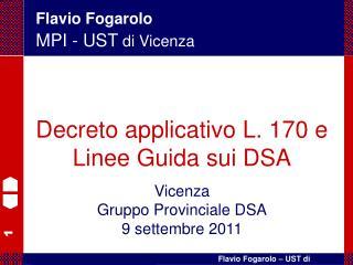 Flavio Fogarolo MPI - UST di Vicenza