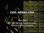 CGH, ARRAY-CGH