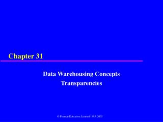 Data Warehousing Concepts Transparencies