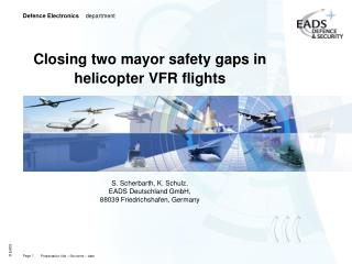 Closing two mayor safety gaps in helicopter VFR flights