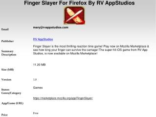 Finger Slayer For Firefox By RV AppStudios