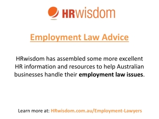 Australian Employment Lawyers & Employment Law Advice