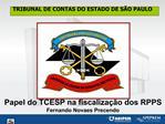 Papel do TCESP na fiscaliza  o dos RPPS Fernando Novaes Precendo