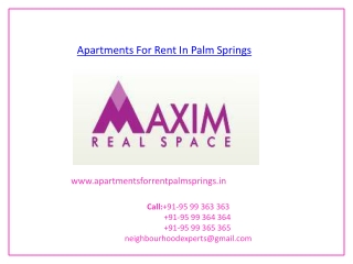 Apartments For Rent In Palm Springs