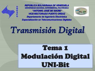 Tema 1 Modulaci n Digital UNI-Bit