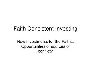 Faith Consistent Investing