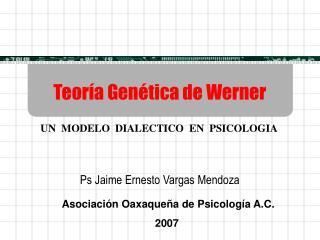 Teor a Gen tica de Werner