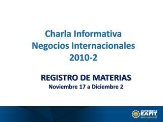 REGISTRO DE MATERIAS Noviembre 17 a Diciembre 2