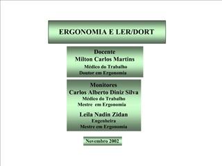 ERGONOMIA E LER