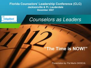 Counselors as Leaders