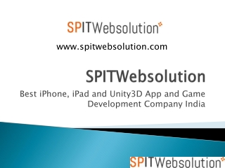 SPITWebsolution - Best iPhone App development Company India