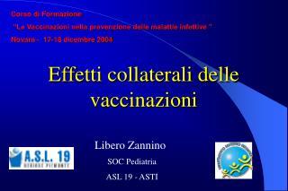 Effetti collaterali delle vaccinazioni