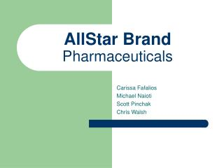 AllStar Brand Pharmaceuticals