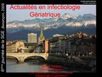 Actualit s en infectiologie G riatrique