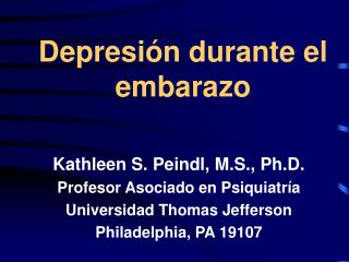 Depresi n durante el embarazo