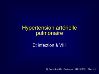 Hypertension art rielle pulmonaire