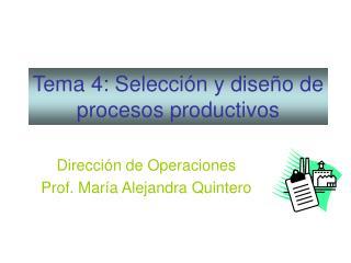 Tema 4: Selecci n y dise o de procesos productivos