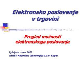 Elektronsko poslovanje v trgovini